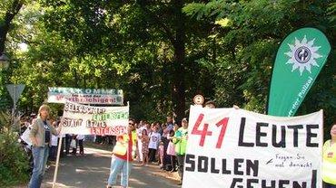 Protest beim MAZ-Sommerfest