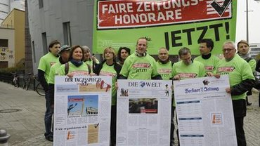 Protest vor dem BDZV