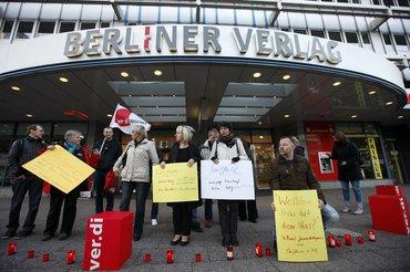 Protest vor dem Berliner Verlag