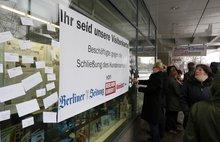 Protest vor dem Kundencenter