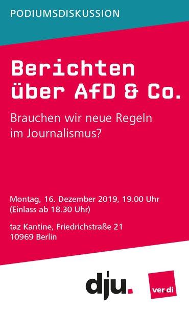 Berichten über AfD & Co.
