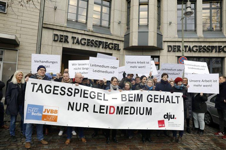 Tagesspiegel Protest für Tarif